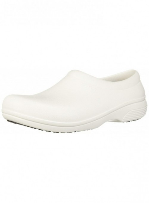 Crocs On The Clock Work SlipOn, Unisex Adulto Zapato, Blanco  White , 39-40 EU