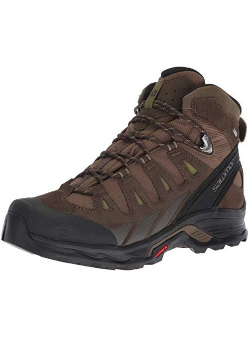 Salomon Quest Prime GTX - Botas de Senderismo para Hombre, Color Gris, 49 1/3 EU, Color Marrón, Talla 46 EU