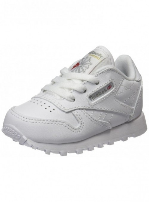 Reebok Classic Leather Zapatillas de trail running Unisex bebé, Marfil   White 1 , 20 EU