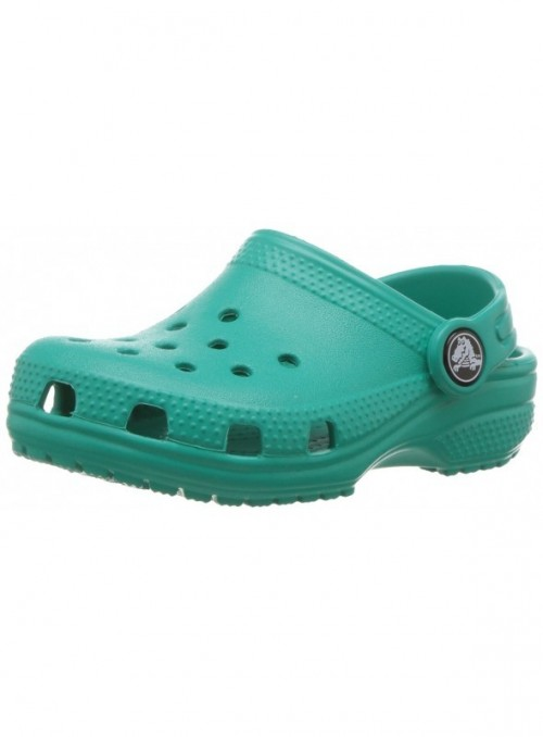 Crocs Classic Clog Kids Roomy fit Zuecos Unisex niños, Turquesa  Tropical Teal , 19/20 EU